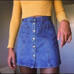 bdg/urban outfitters denim mini skirt